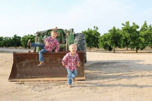 When we grown up we want to drive a tractor like you daddy.